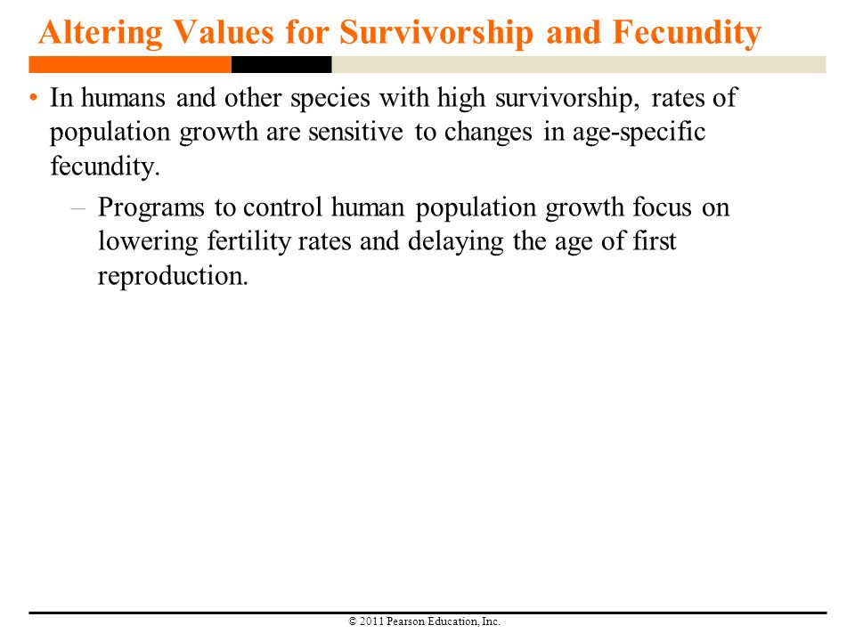 Altering Values For Survivorship And Fecundity