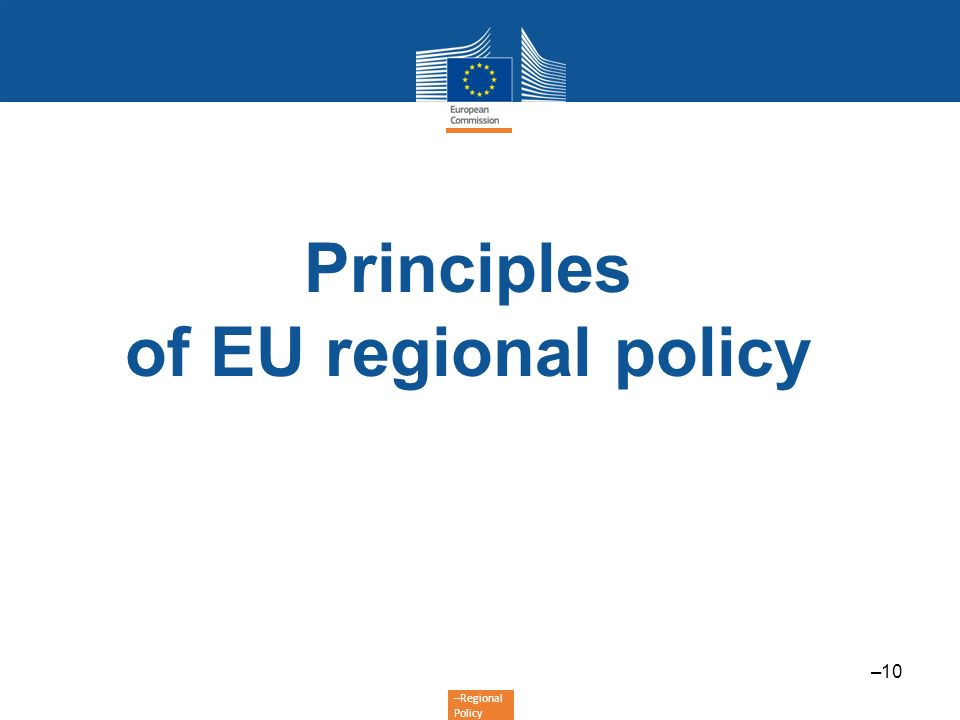 Principles of EU regional policy