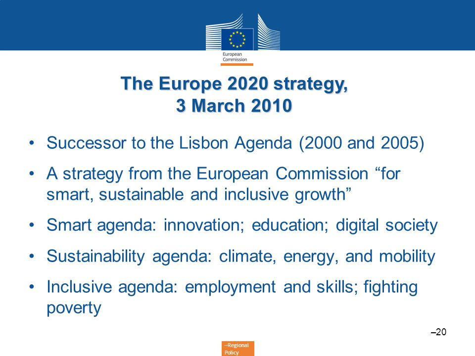 The Europe 2020 strategy, 3 March 2010