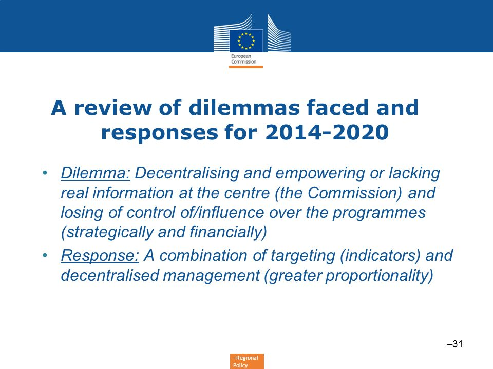 A review of dilemmas faced and responses for 2014-2020