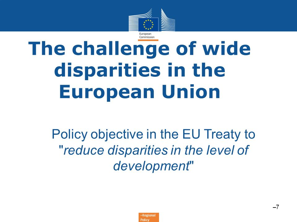 The challenge of wide disparities in the European Union