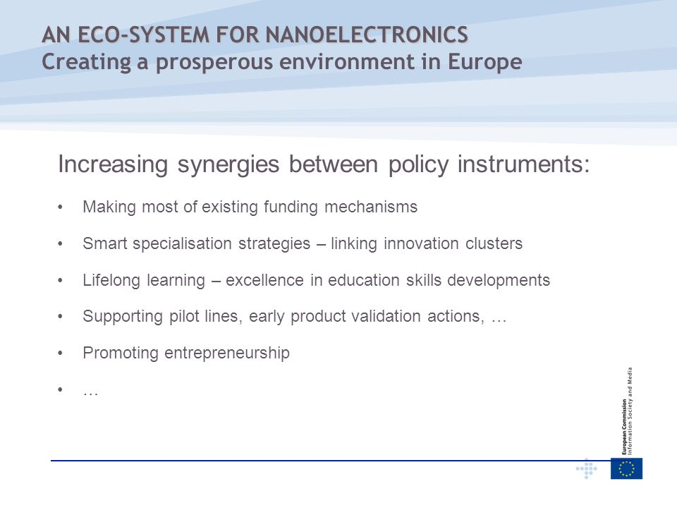 Increasing synergies between policy instruments: