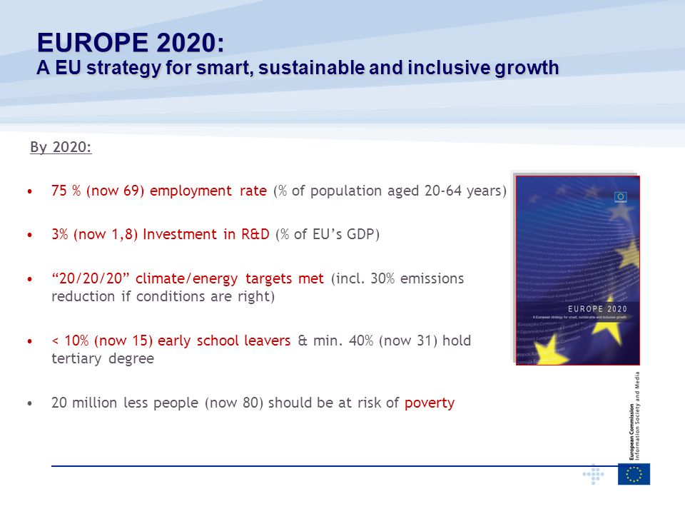 EUROPE 2020: A EU strategy for smart, sustainable and inclusive growth