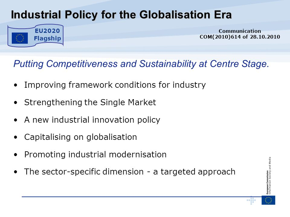 Industrial Policy for the Globalisation Era