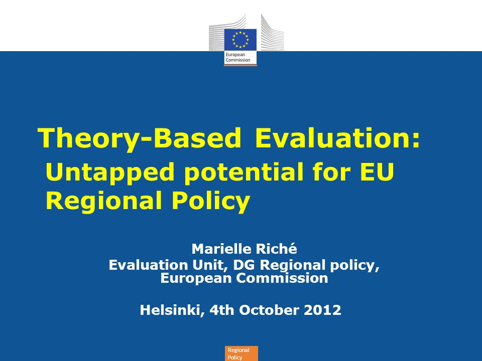 Theory-Based Evaluation: