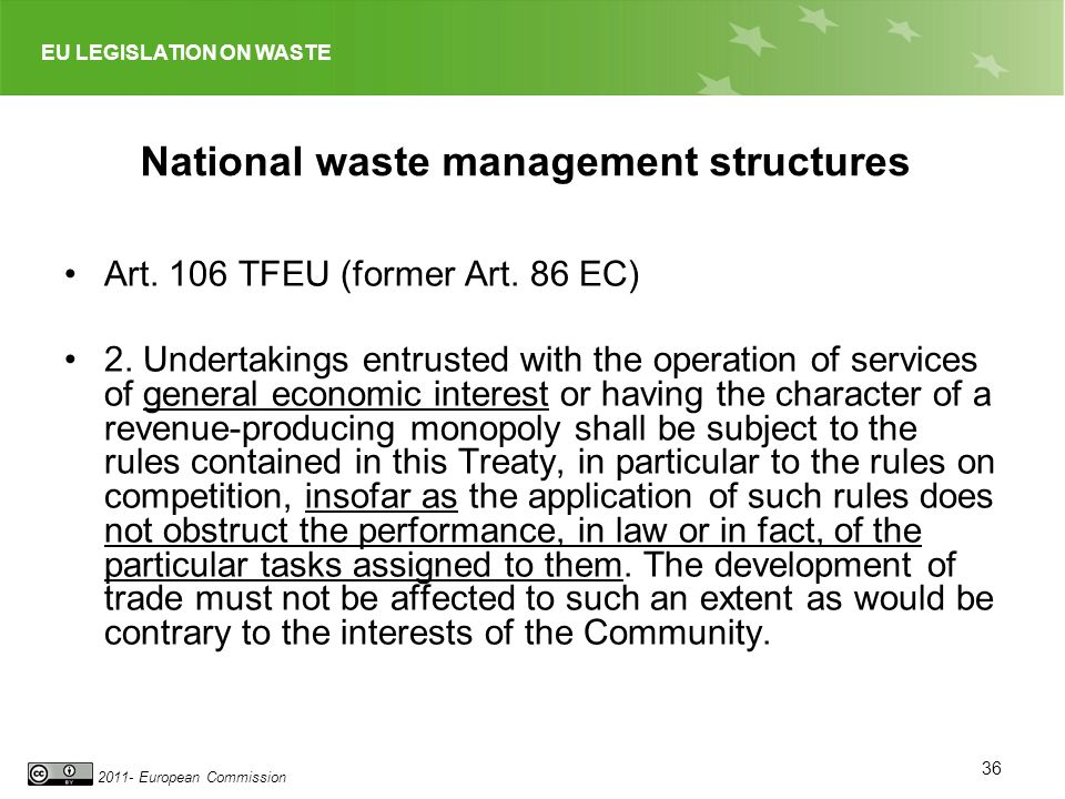 National waste management structures