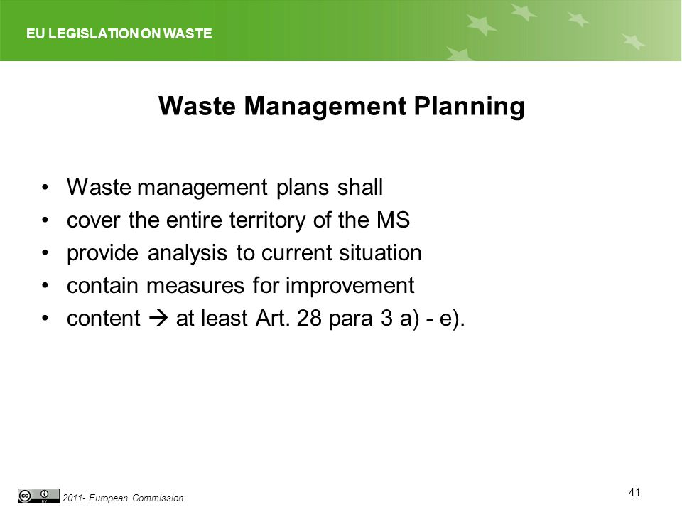 Waste Management Planning