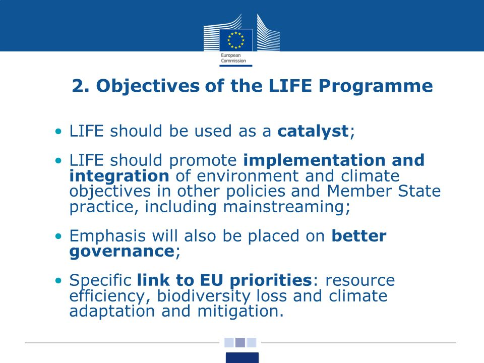 2. Objectives of the LIFE Programme