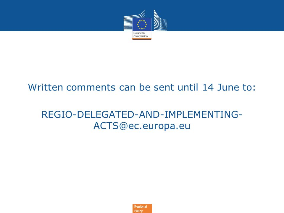 Written comments can be sent until 14 June to: