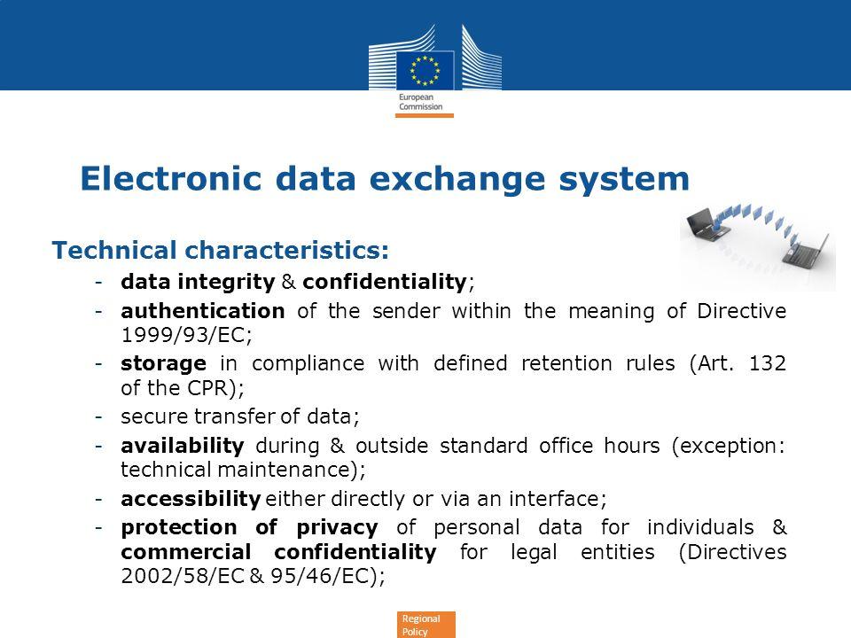 Electronic data exchange system
