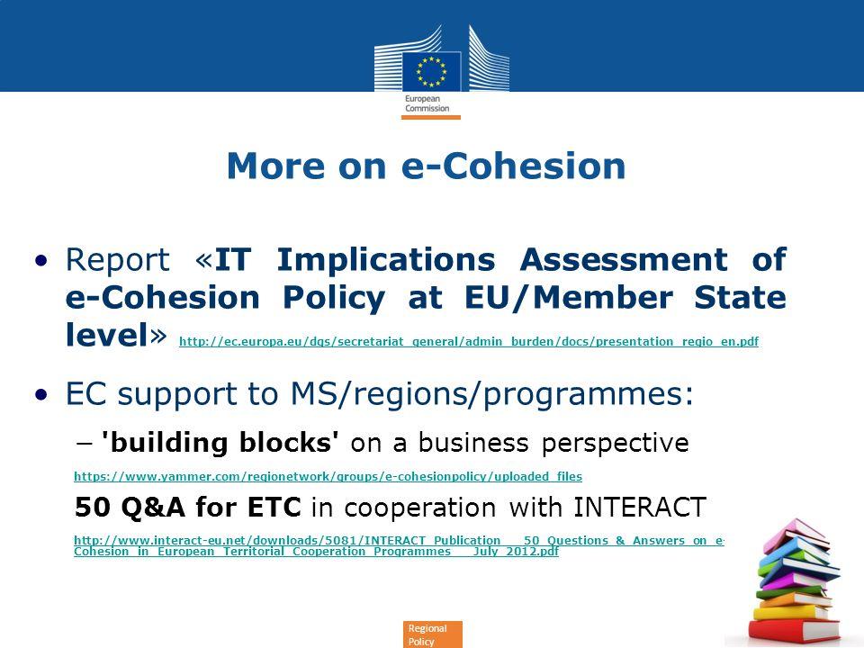 More on e-Cohesion