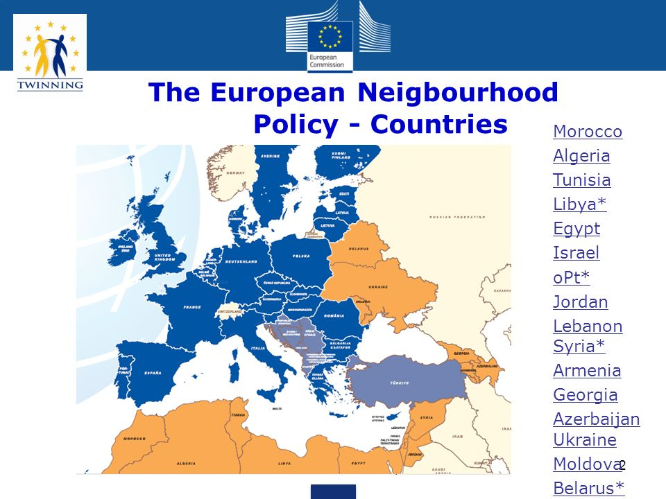The European Neigbourhood Policy - Countries