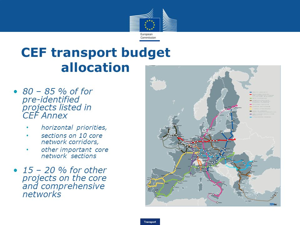CEF transport budget allocation