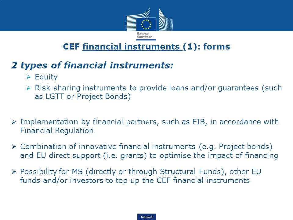 CEF financial instruments (1): forms
