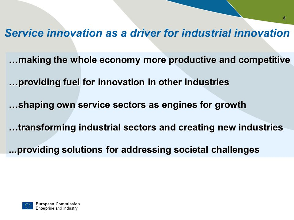 Service innovation as a driver for industrial innovation