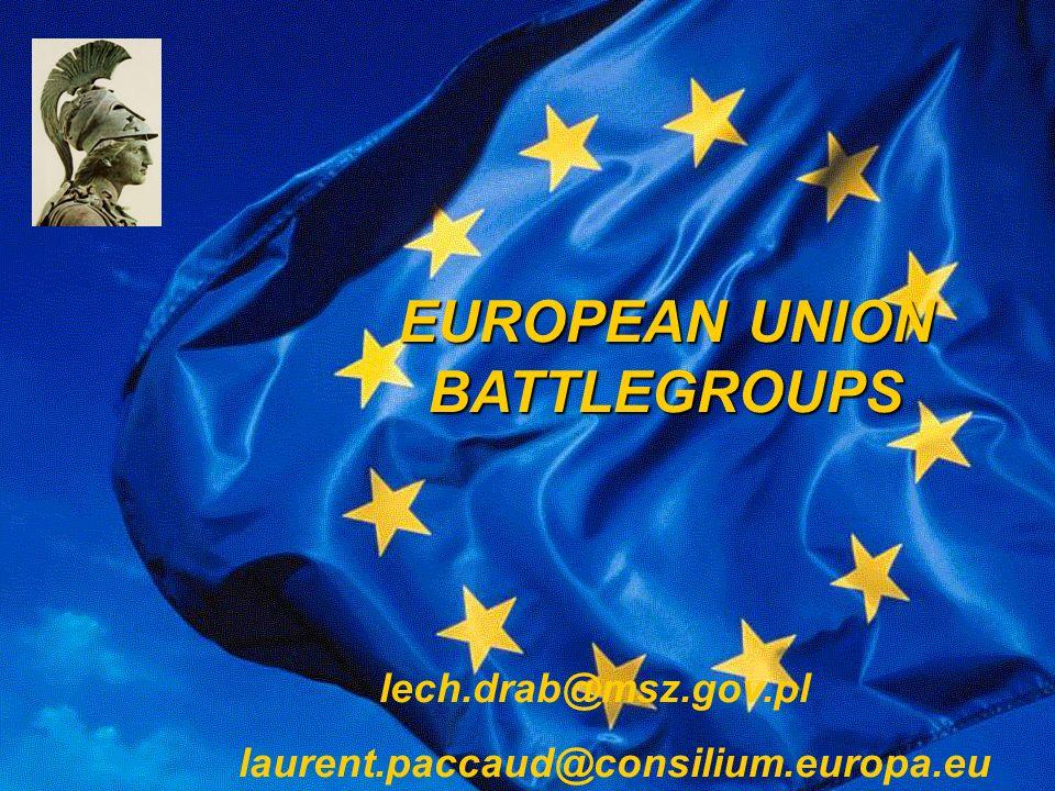 EUROPEAN UNION BATTLEGROUPS