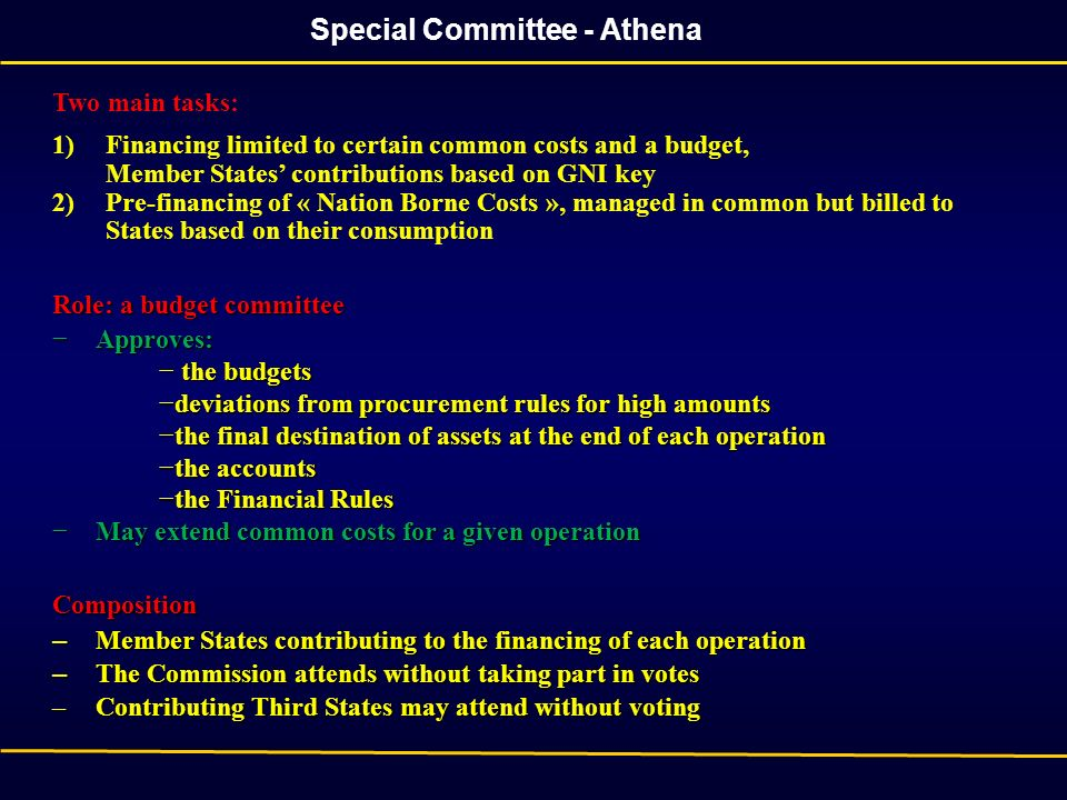 Special Committee - Athena