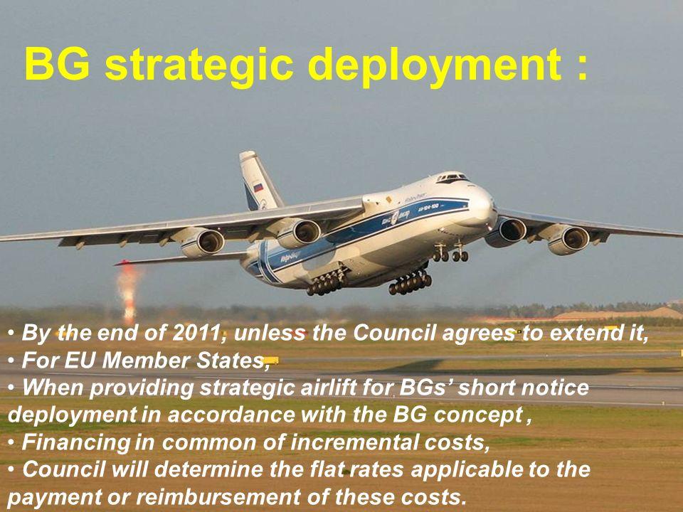 BG strategic deployment :