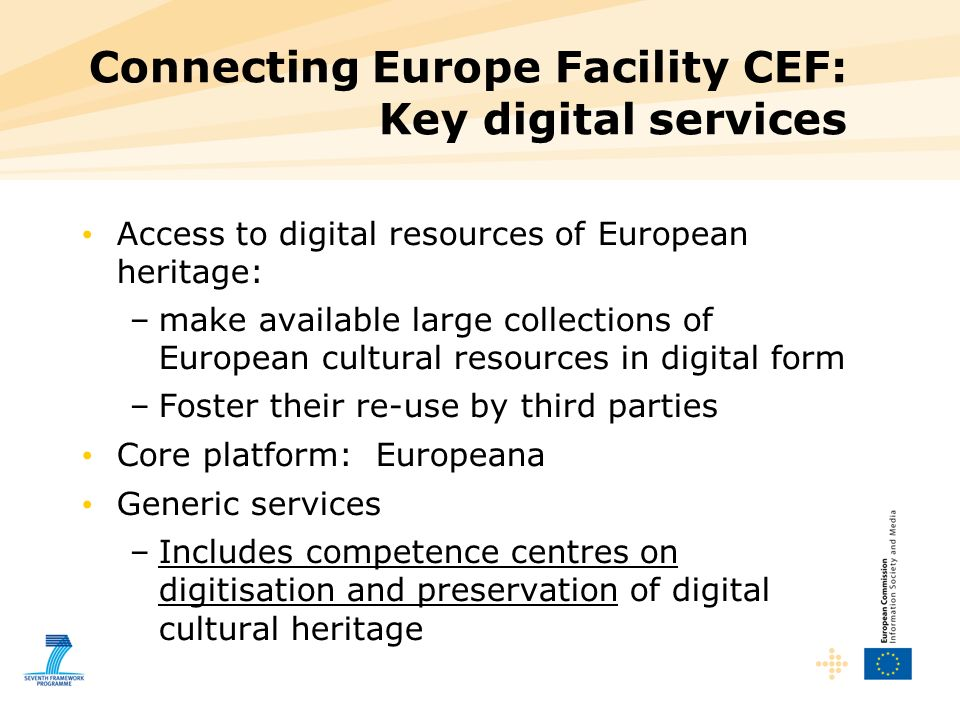 Connecting Europe Facility CEF: Key digital services