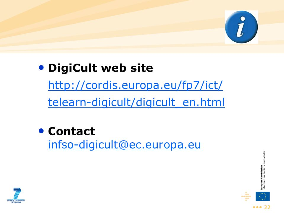 Contact infso-digicult@ec.europa.eu