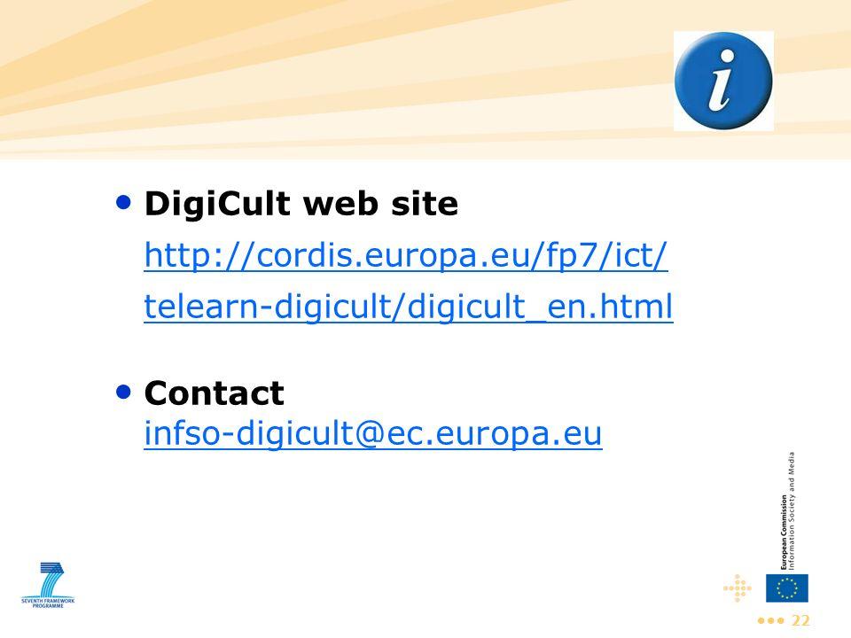 Contact infso-digicult@ec.europa.eu