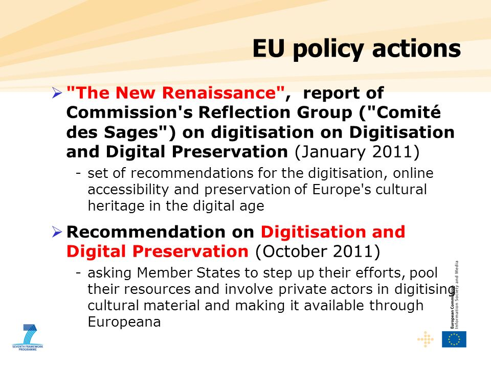 EU policy actions