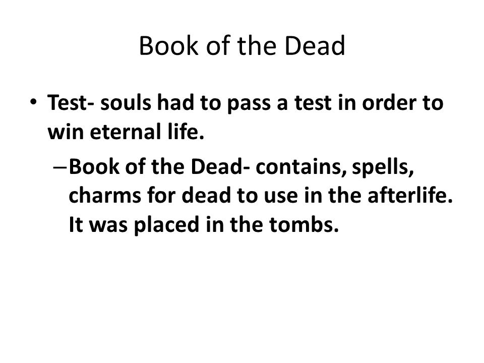 book of dead test