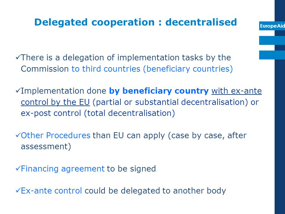 Delegated cooperation : decentralised