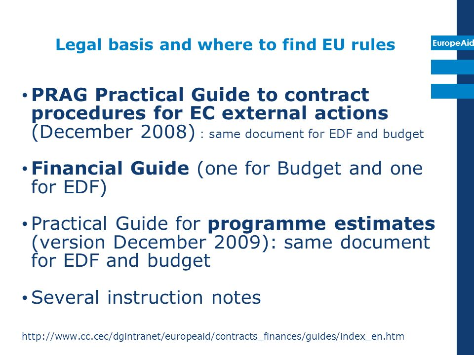 Legal basis and where to find EU rules