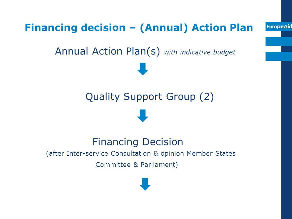 Financing decision – (Annual) Action Plan