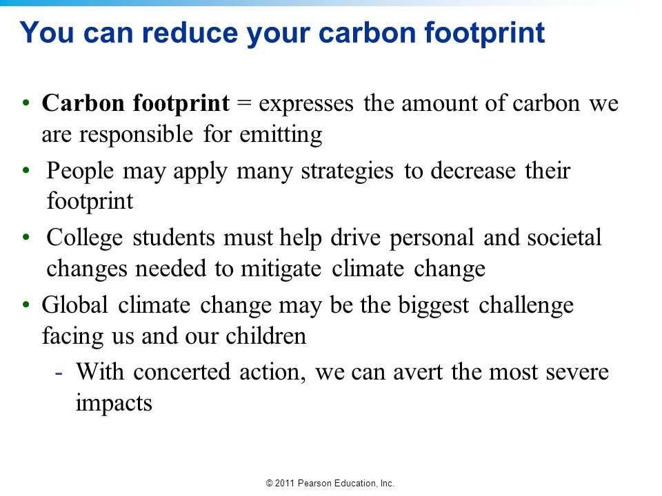 Examples List on Carbon footprint