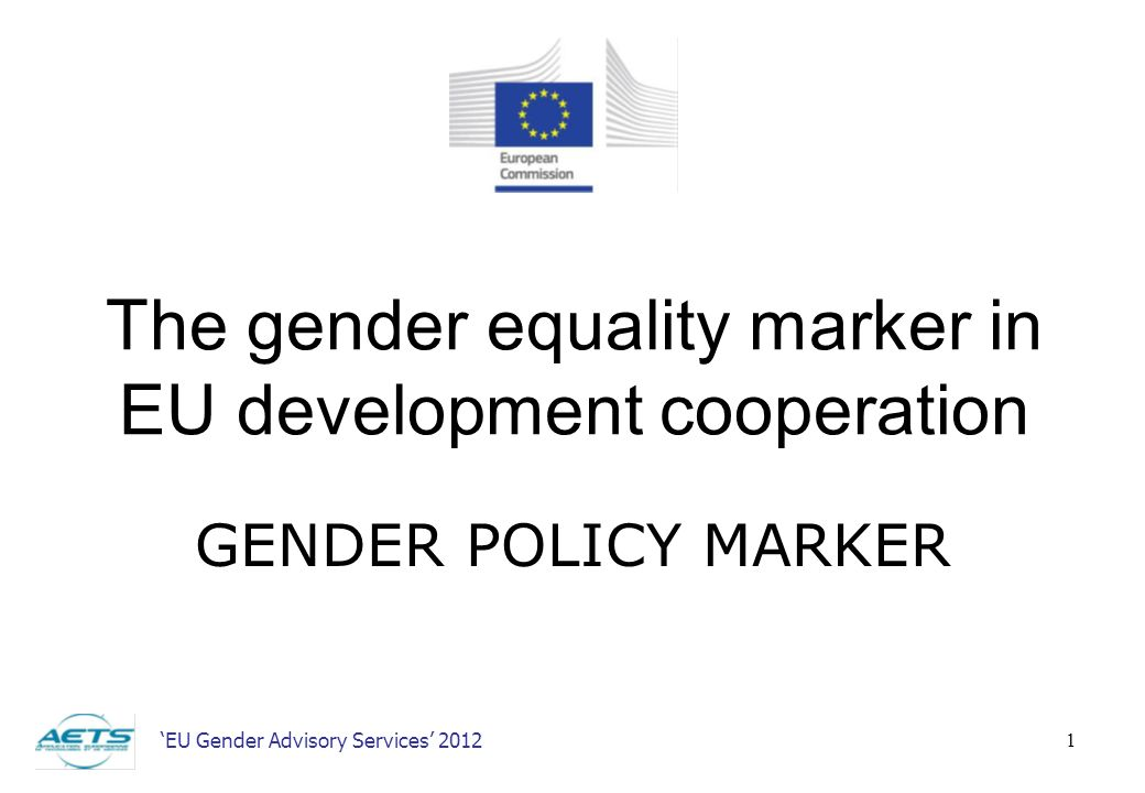 The gender equality marker in EU development cooperation