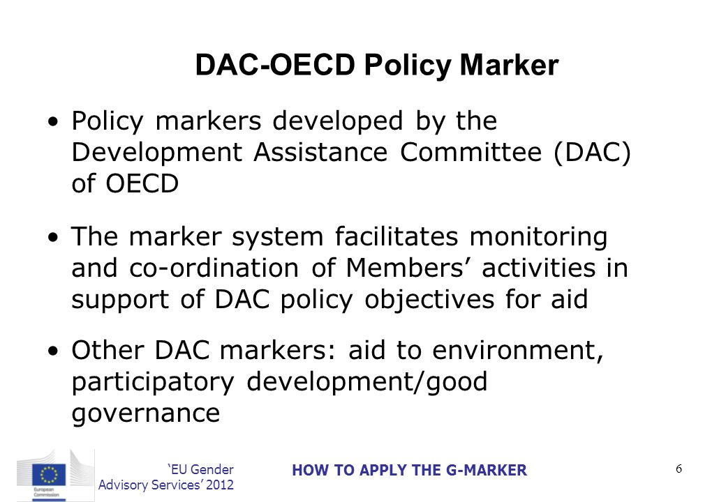 DAC-OECD Policy Marker