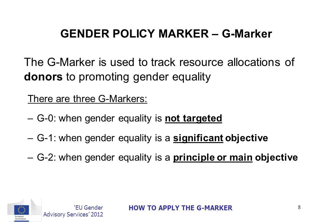 GENDER POLICY MARKER – G-Marker