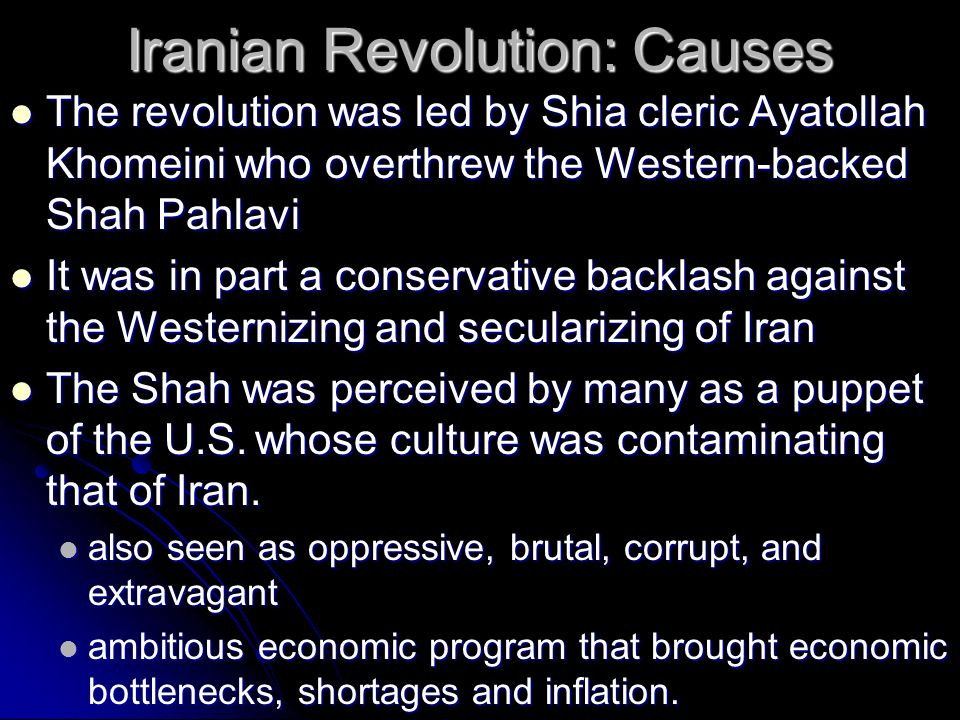 the causes and effects of the iranian revolution Iranian revolution of 1978-79: iranian revolution of 1978-79, popular uprising that resulted in the fall of the monarchy and the establishment of an islamic republic.