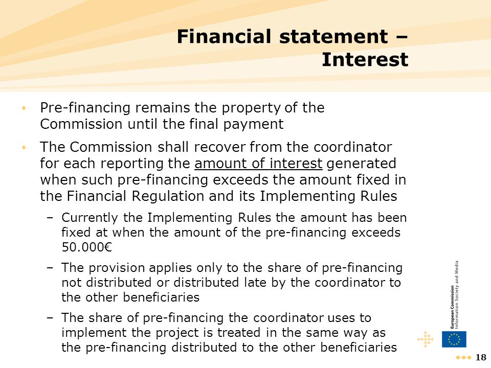Financial statement – Interest