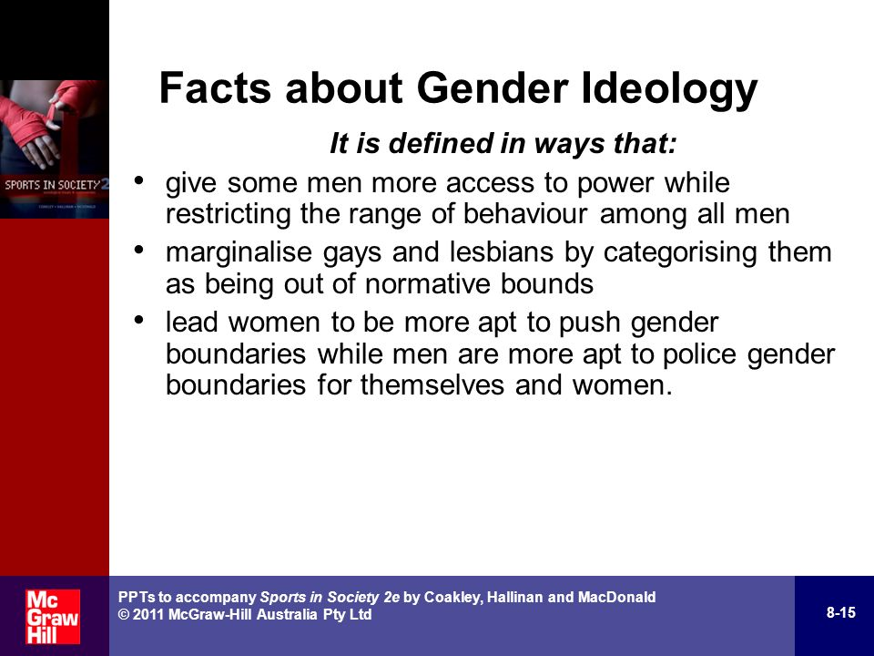 gender ideology comparing the characteristics of males Comparing traditional female gender stereotypes with those of the 21st century women in sports, it is clear that female athletes are beginning to establish themselves in the sports world.