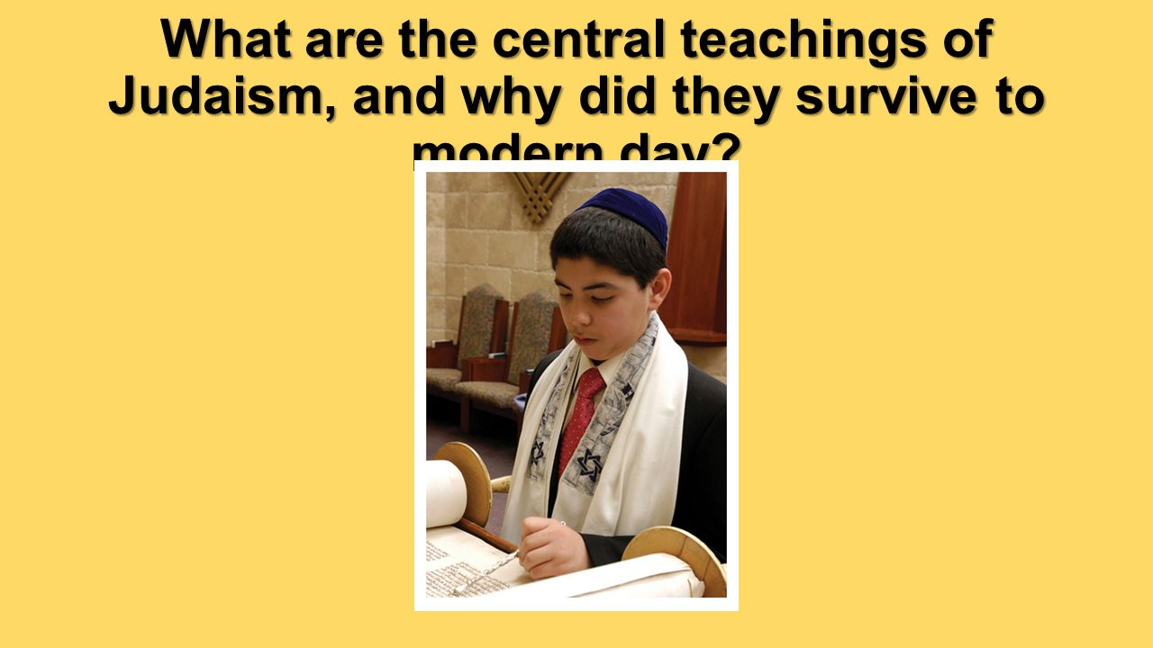 the survival of judaism The answer to the question about jewish survival is the same as the  is indeed  a goal and a reason for the existence of jews and judaism.