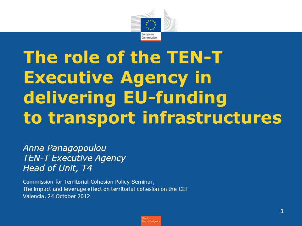 Anna Panagopoulou TEN-T Executive Agency Head of Unit, T4