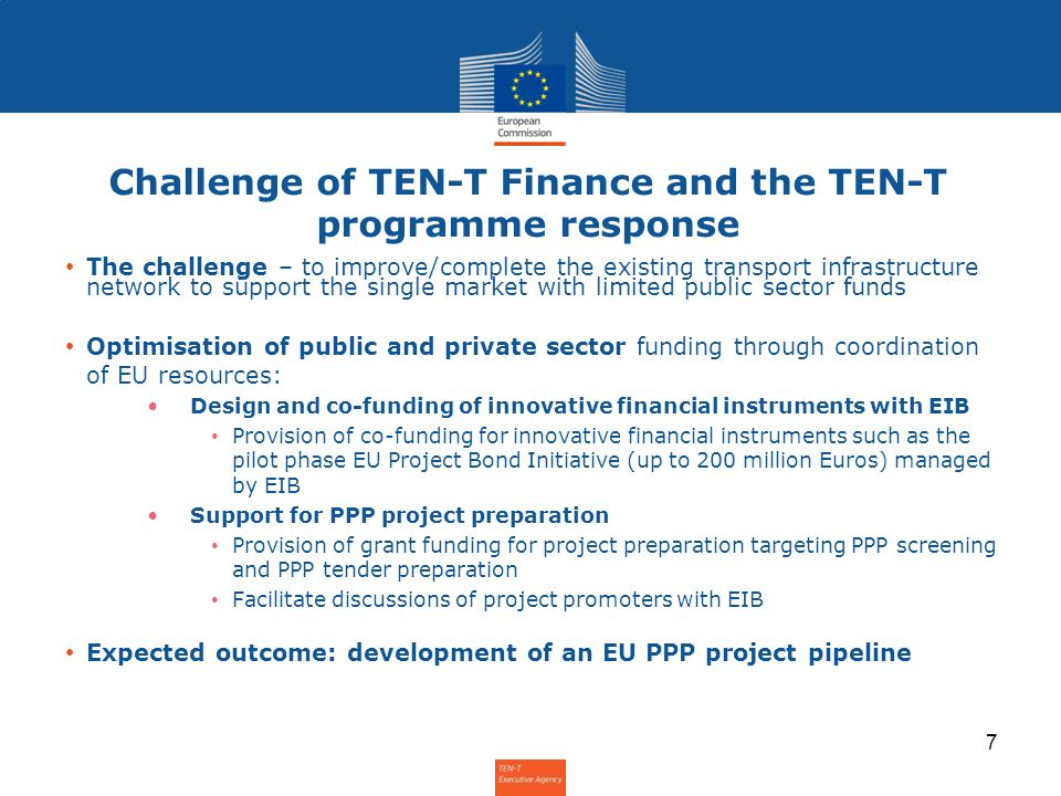 Challenge of TEN-T Finance and the TEN-T programme response