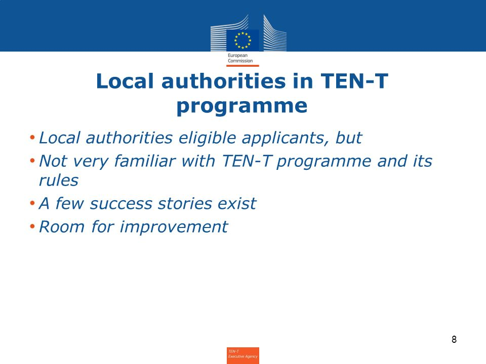 Local authorities in TEN-T programme