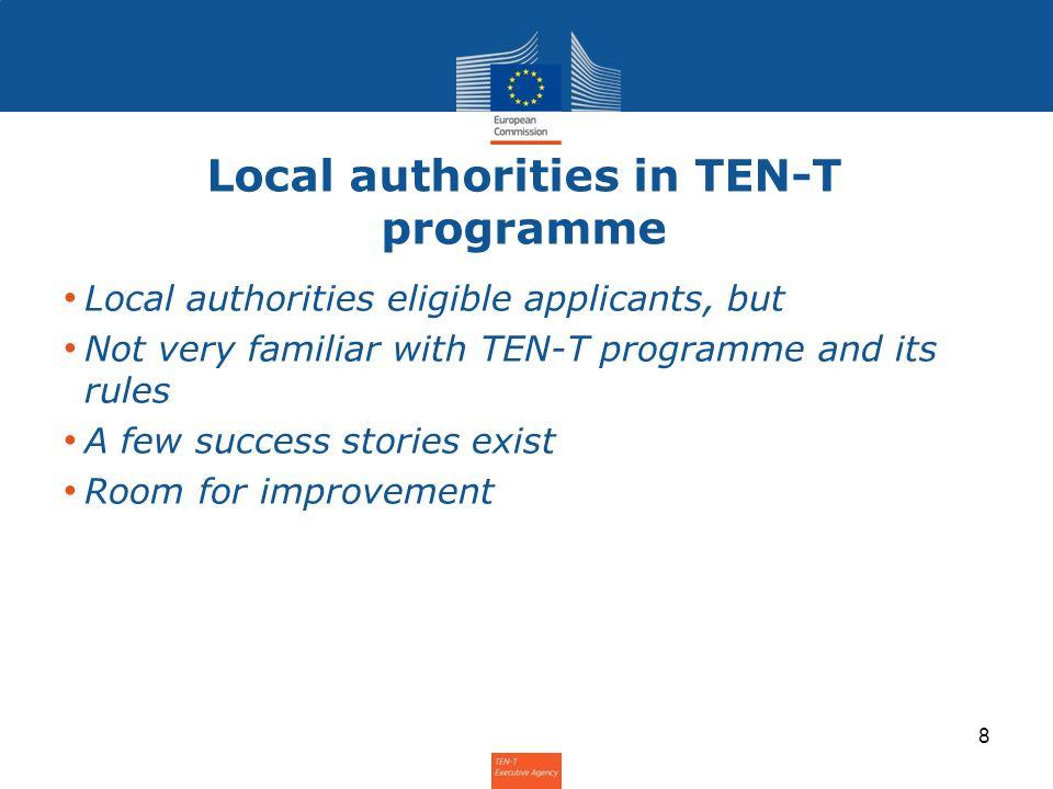 Local authorities in TEN-T programme