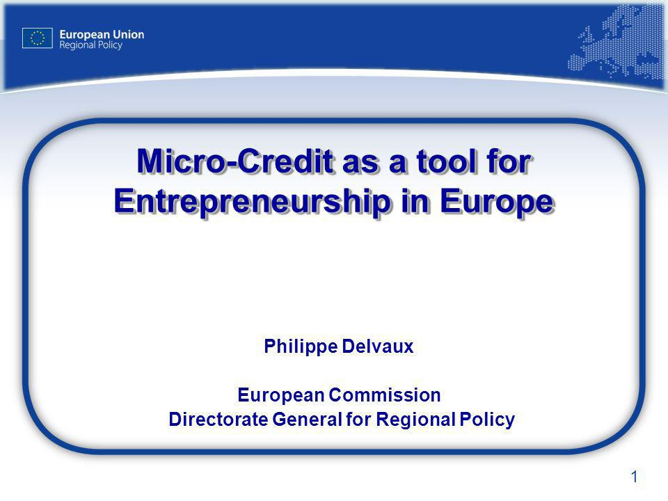 Micro-Credit as a tool for Entrepreneurship in Europe