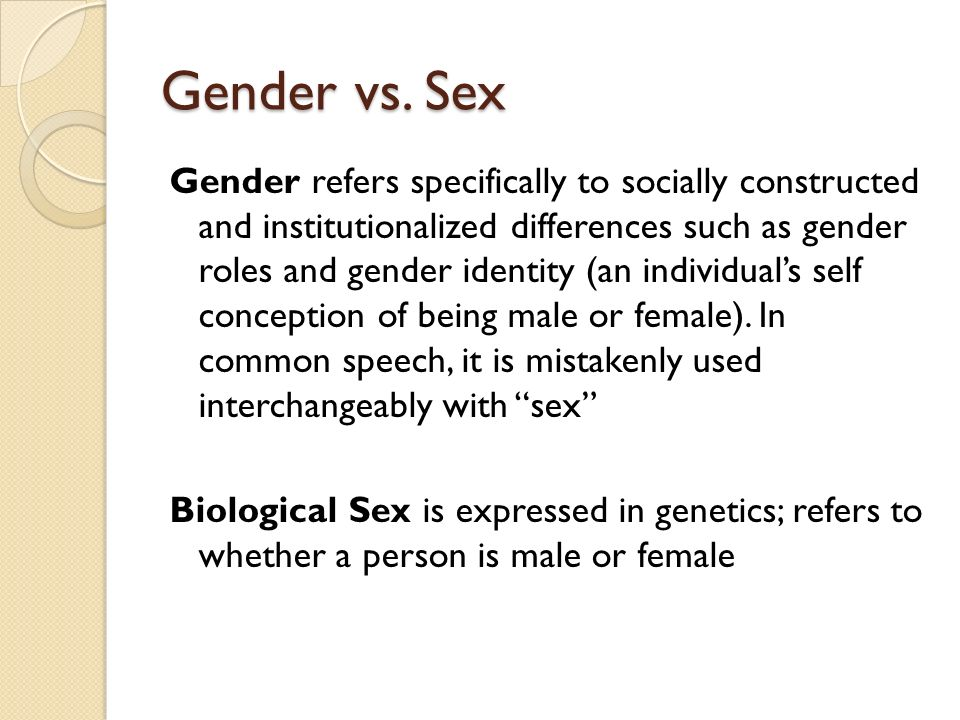sex vs gender essay Free gender differences papers, essays, and research papers.