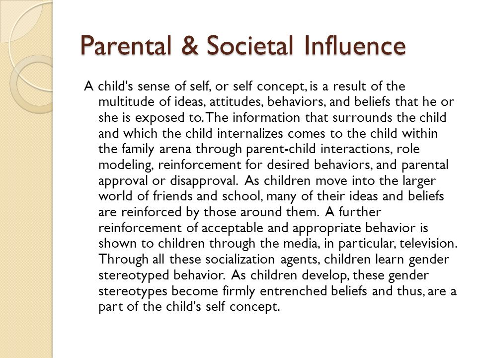 an analysis of the influence of television on childrens attitudes ideas and behaviors C our social experiences form such essential characteristics as our behaviors, ideas, attitudes, and intelligence  a deprive their children of television b physically punish their children  what term is used for individuals and groups that influence our attitudes, behaviors, and self-concept a family b mass media c social class.