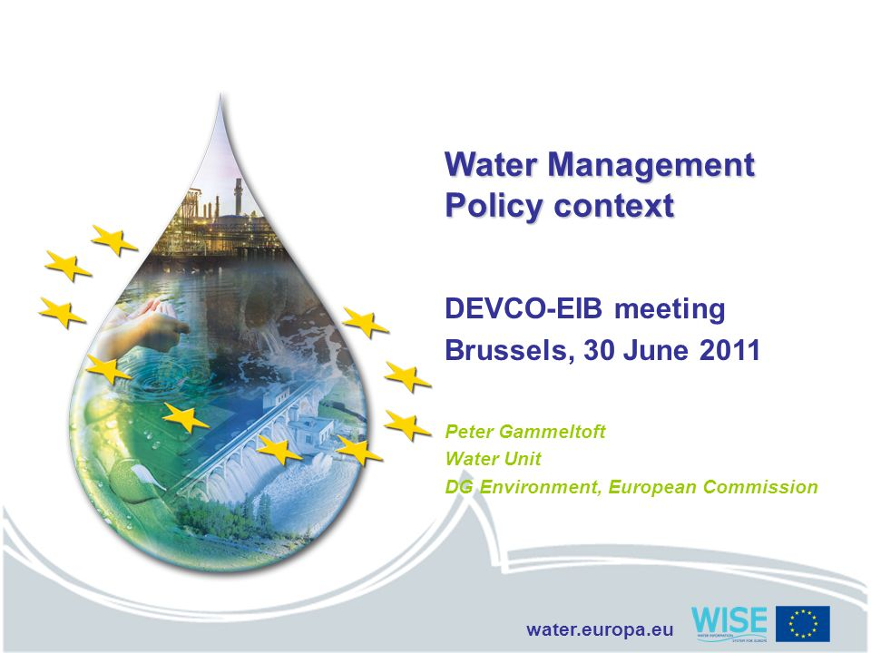 Water Management Policy context