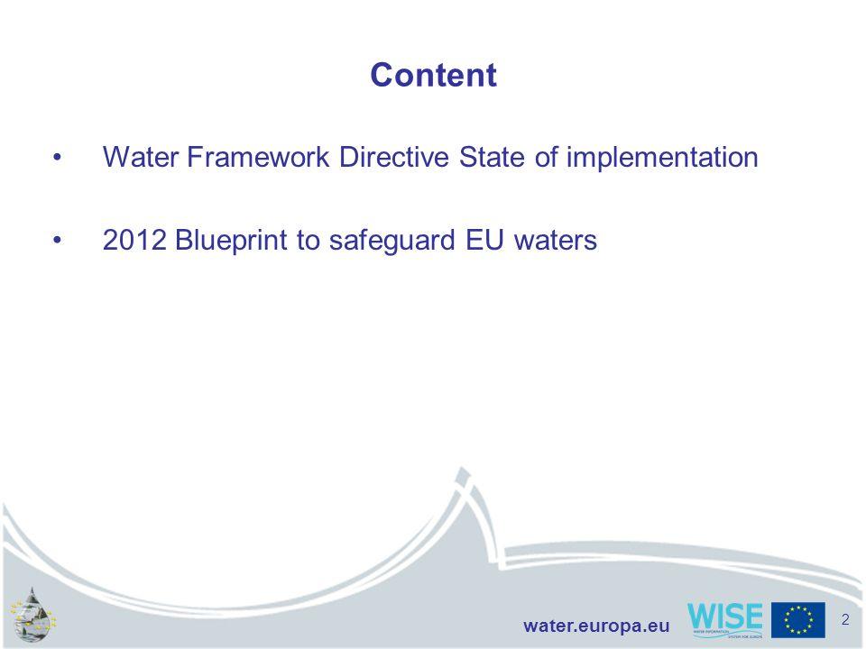 Content Water Framework Directive State of implementation
