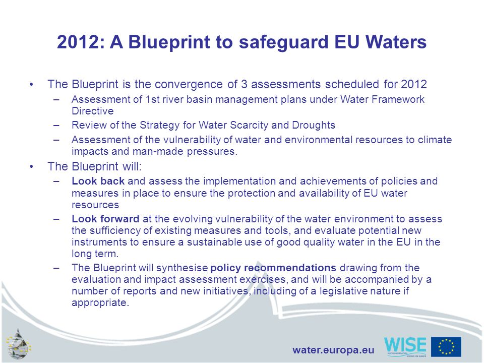 2012: A Blueprint to safeguard EU Waters