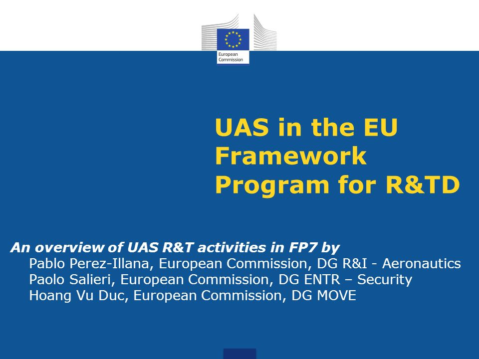 UAS in the EU Framework Program for R&TD