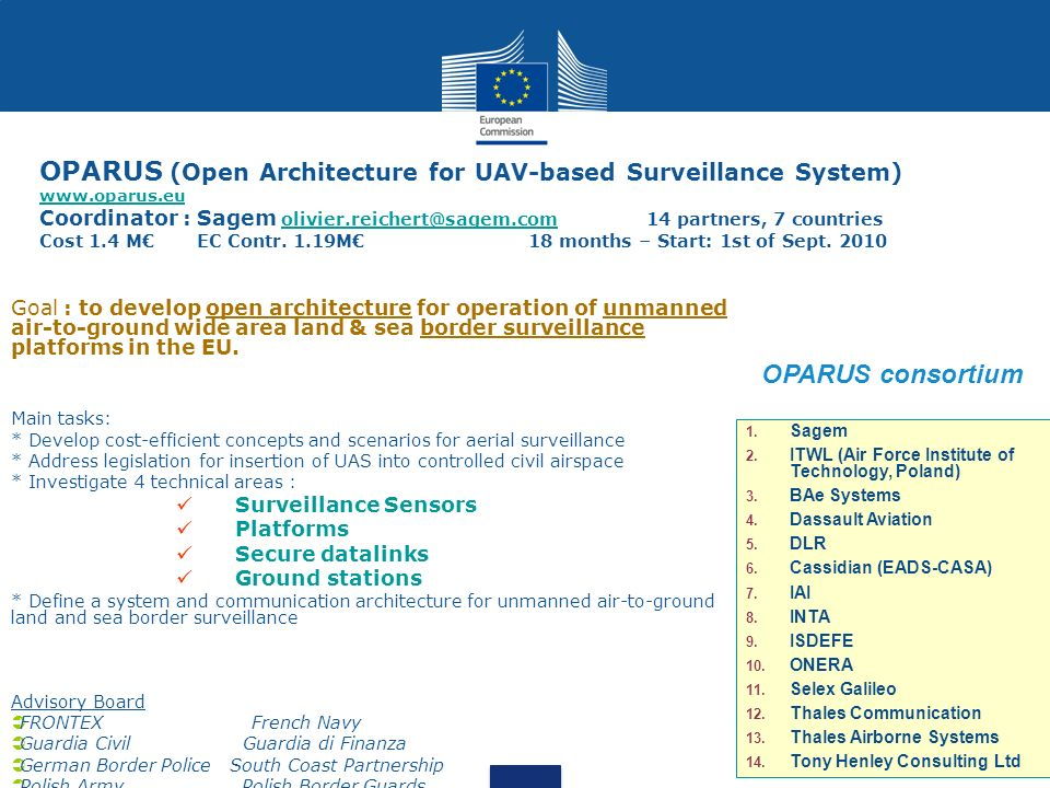 OPARUS (Open Architecture for UAV-based Surveillance System) www